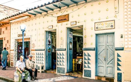 House Oriente town. Estacion Colombia Specialty Coffee