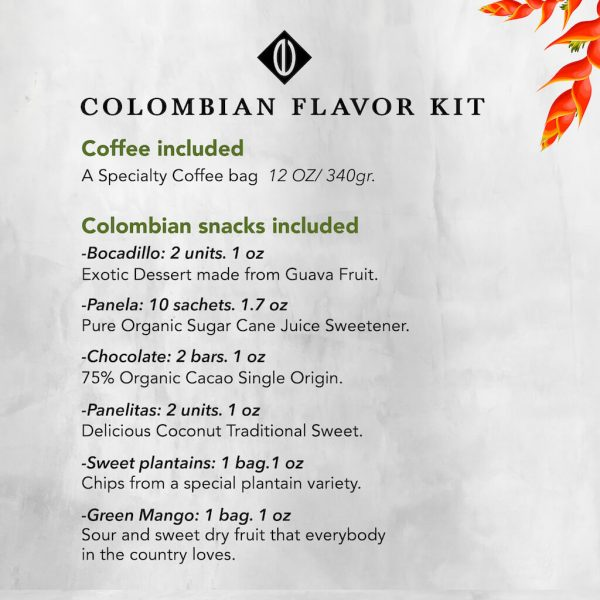 Colombia flavor kit. Colombian Snacks
