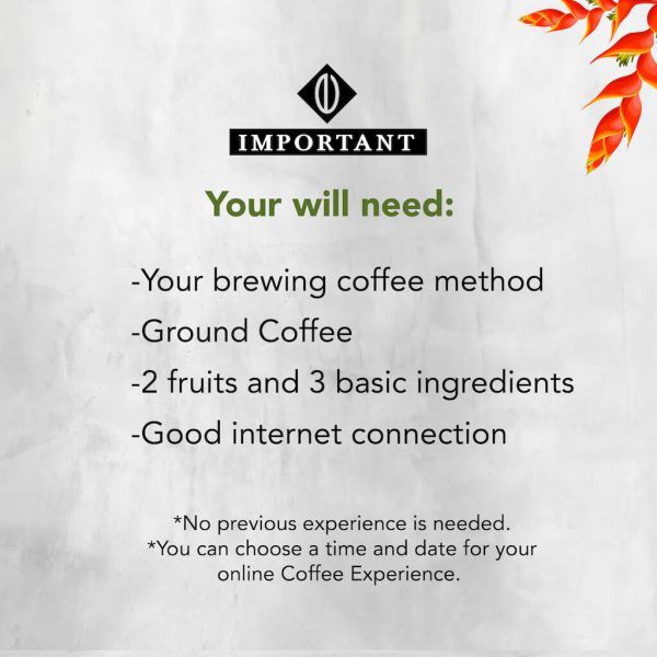 Coffee Experience Online. Tasting Coffee